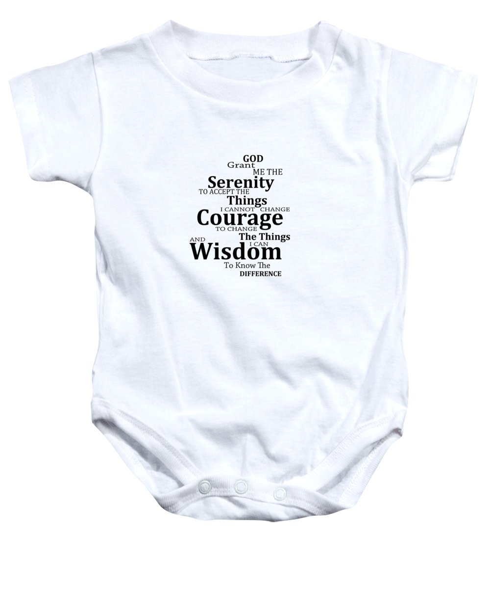 Serenity Prayer 6 - Simple Black And White Onesie for Sale by Sharon  Cummings a50e93679c84f
