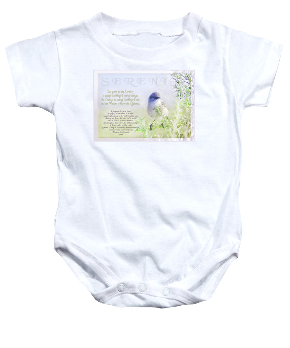 Animals Baby Onesie featuring the photograph Serenity Prayer by Holly Kempe