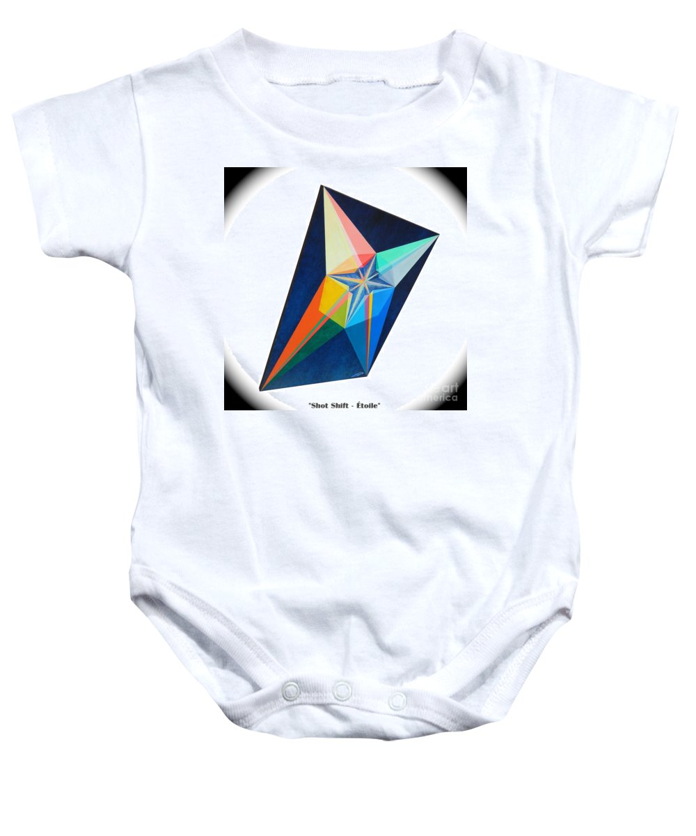 Spirituality Baby Onesie featuring the painting Shot Shift - Etoile 1 by Michael Bellon