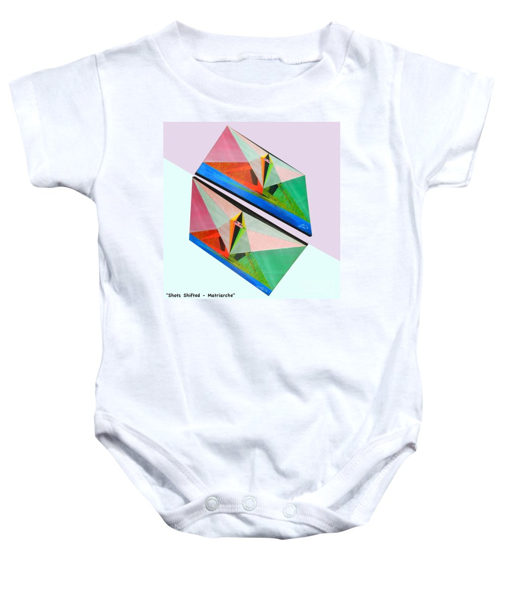 Spirituality Baby Onesie featuring the painting Shots Shifted - Matriarche 3 by Michael Bellon
