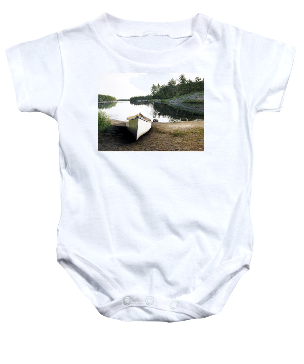 Landscapes Baby Onesie featuring the painting Silent Retreat by Kenneth M Kirsch