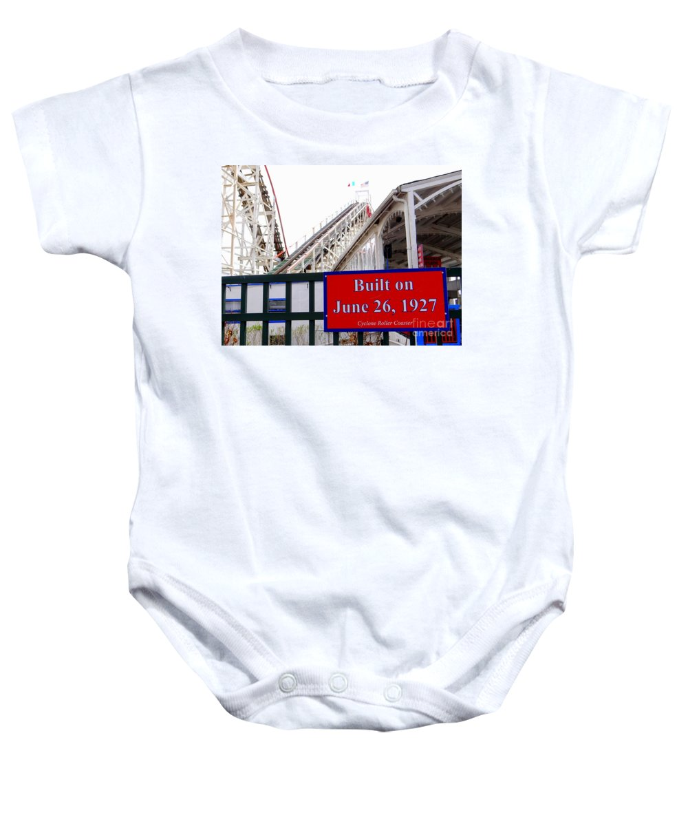 Coney Island Baby Onesie featuring the photograph Since 1927 by Ed Weidman