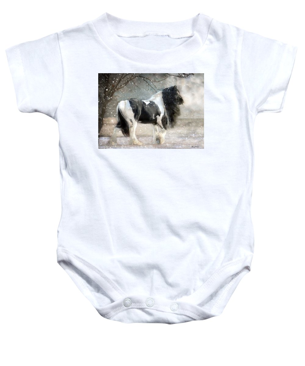 Horse Photographs Baby Onesie featuring the photograph Solitary by Fran J Scott