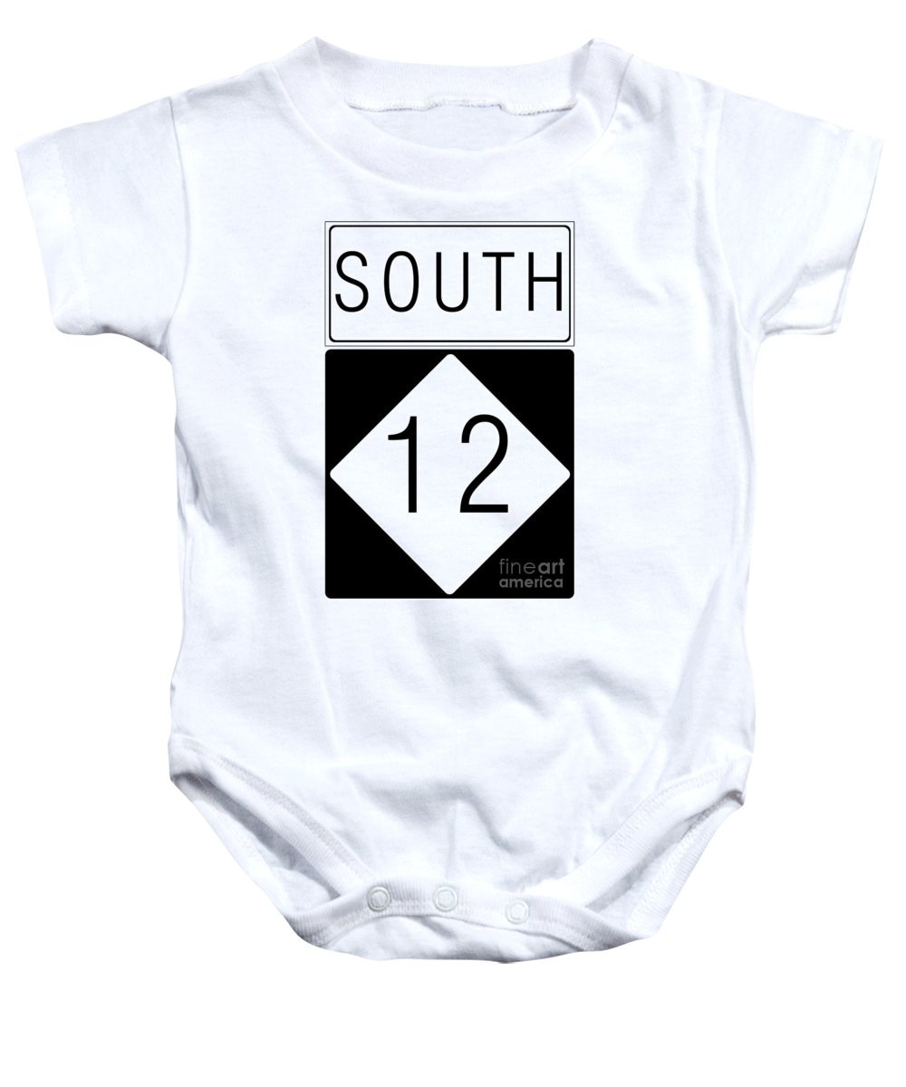Feature Baby Onesie featuring the digital art South Nc 12 by Paulette B Wright