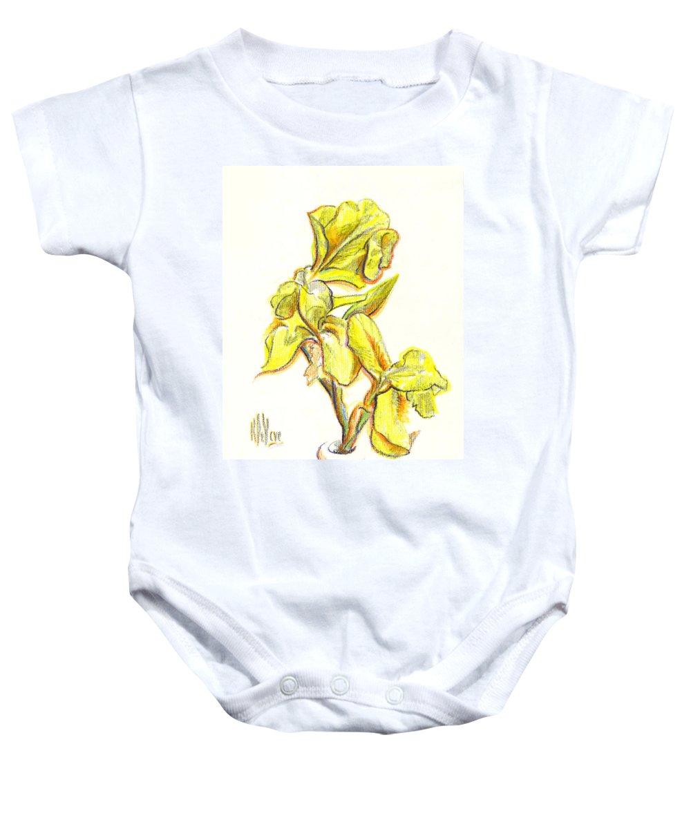Spanish Irises Baby Onesie featuring the painting Spanish Irises by Kip DeVore