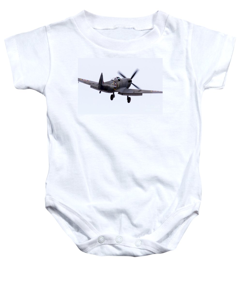 Spitfire Baby Onesie featuring the photograph Spitfire by J Biggadike