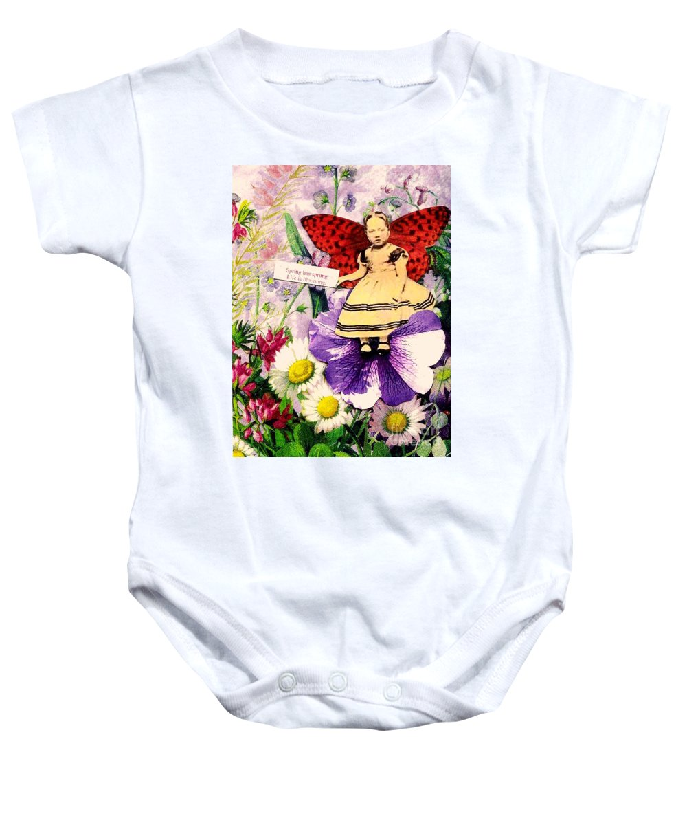 Spring Baby Onesie featuring the mixed media Spring Has Sprung by Desiree Paquette