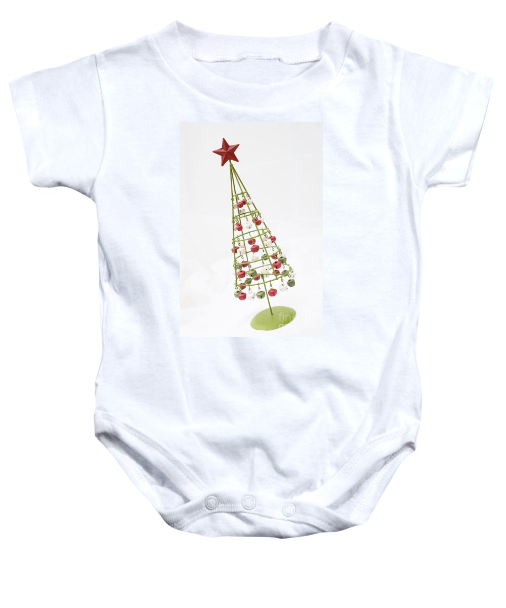 Angle Baby Onesie featuring the photograph Squiffy Tree by Anne Gilbert
