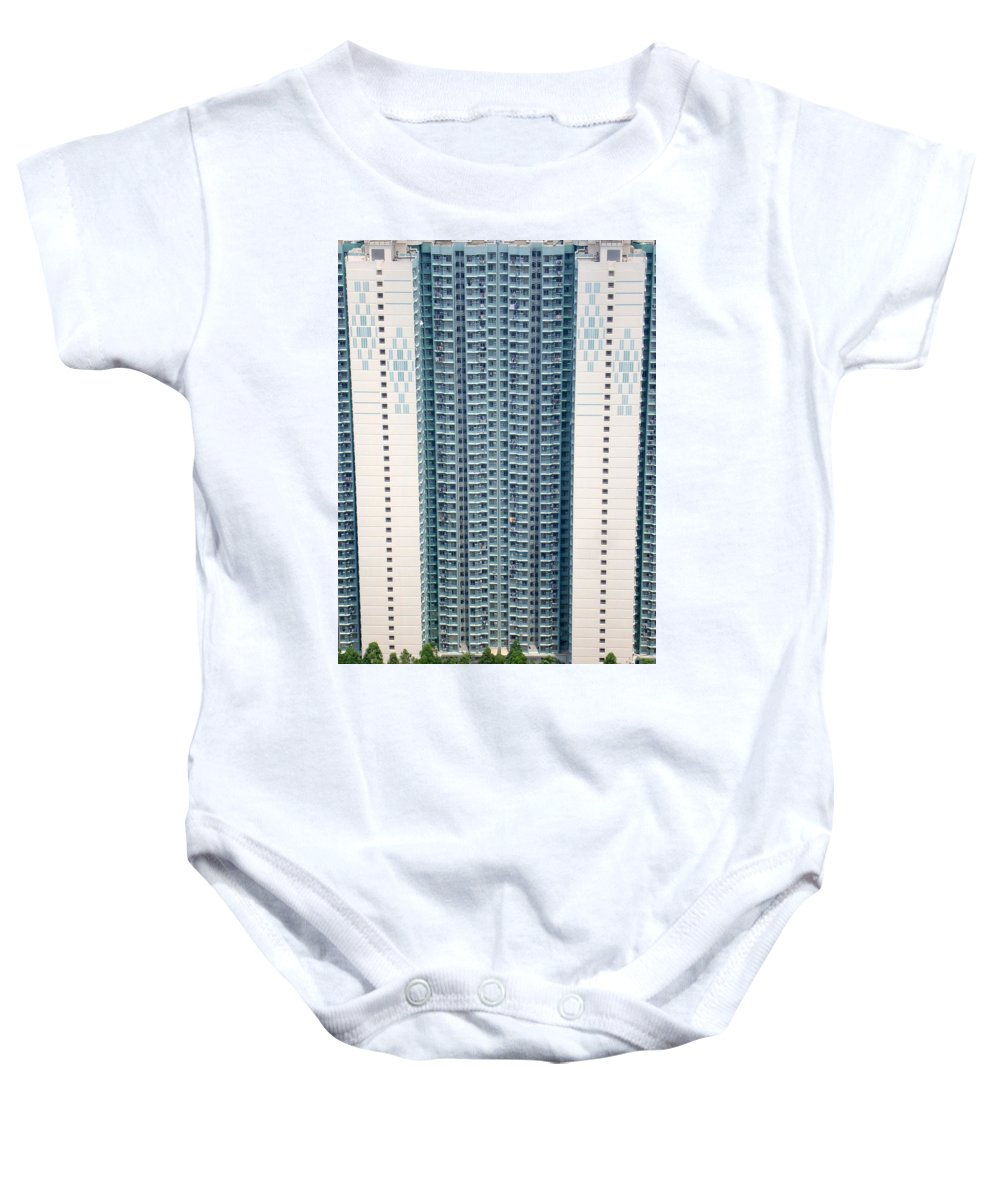 Apartment Baby Onesie featuring the photograph Stacked Housing by Ian Mcadie