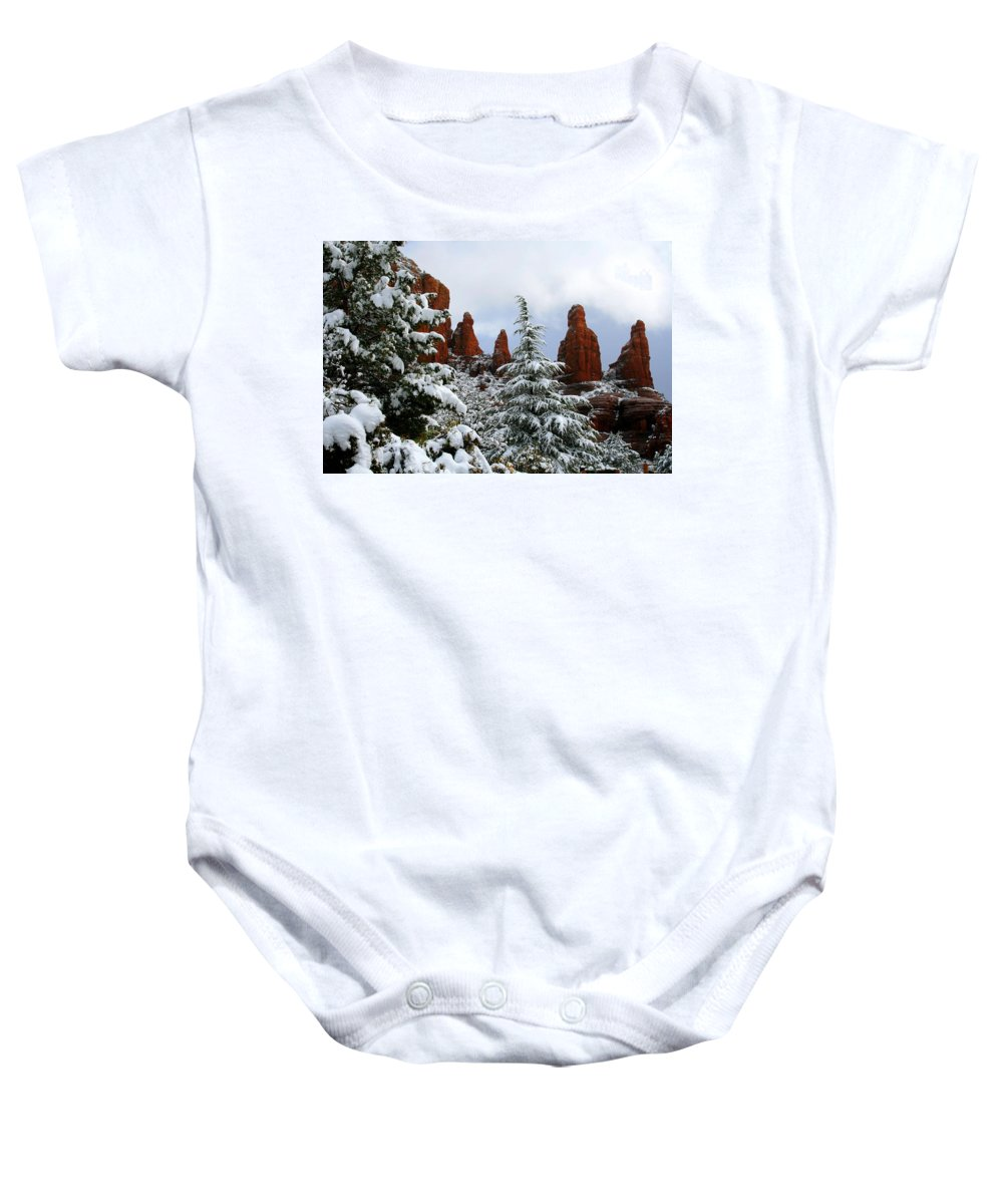 Arizona Baby Onesie featuring the photograph Standing Tall by Miles Stites