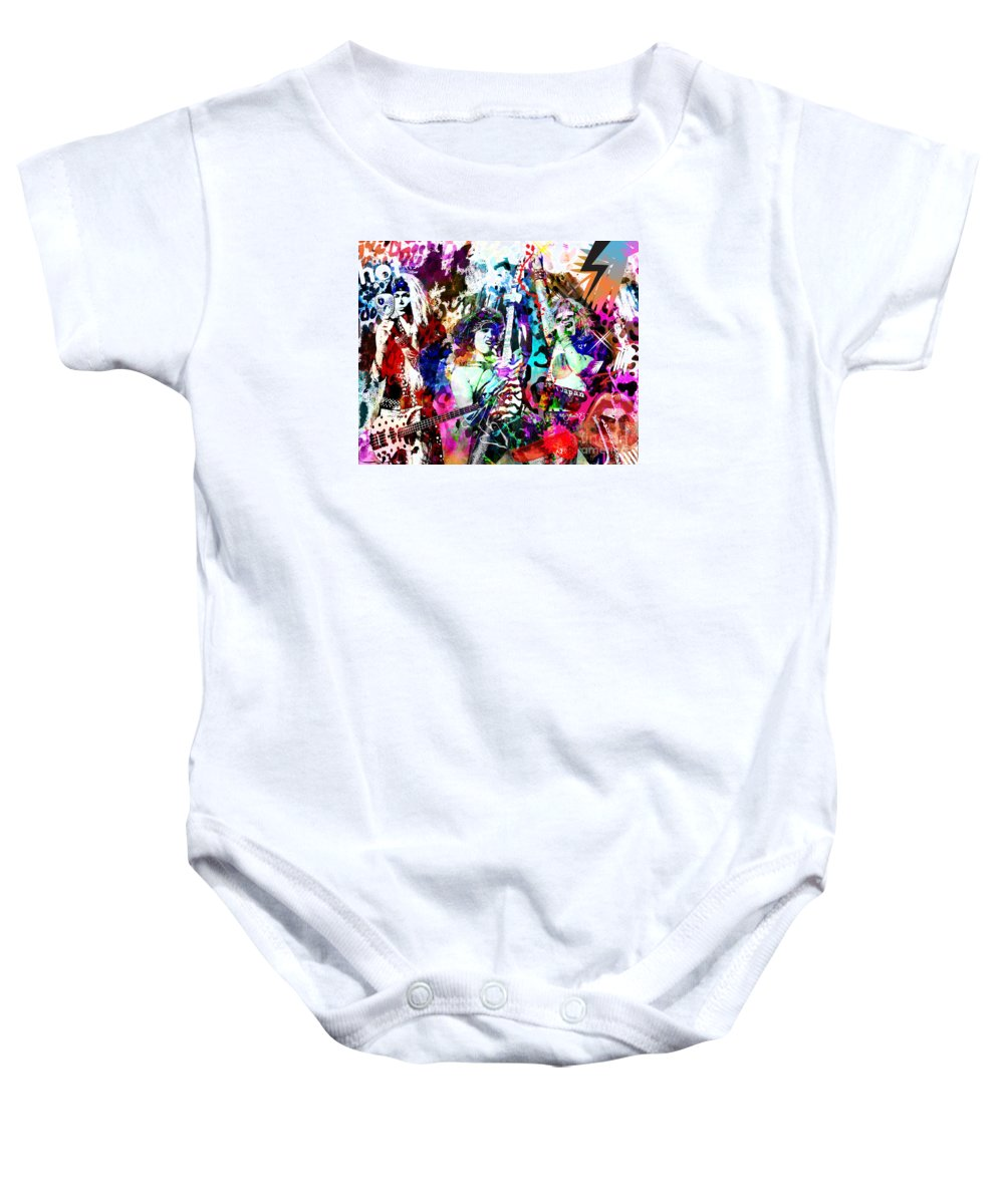 Art Baby Onesie featuring the painting Steel Panther - Original Painting Art Print by Ryan Rock Artist