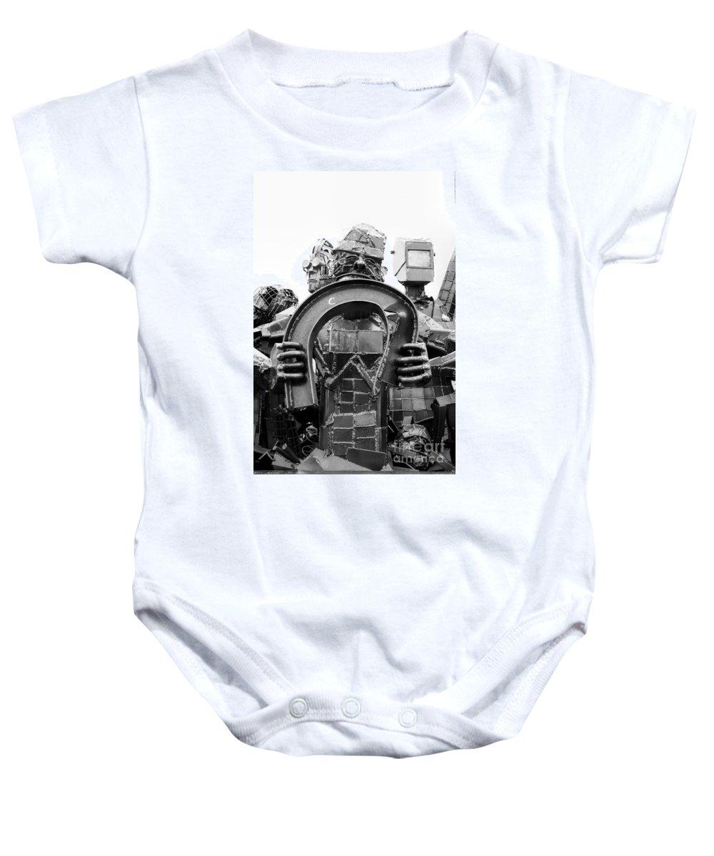 Brakewell Steel Baby Onesie featuring the photograph Steel Vs Steel by Rick Kuperberg Sr
