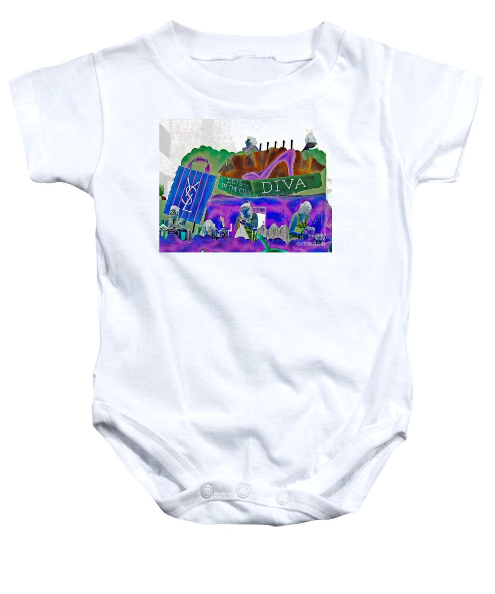 Computer Graphics Baby Onesie featuring the photograph Stiletto Heels Invert by Marian Bell
