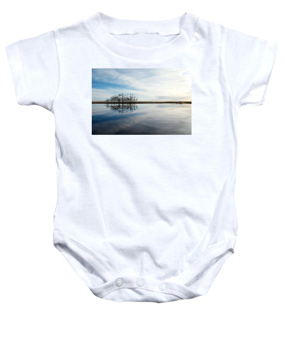 Pond Baby Onesie featuring the photograph Still by Lisa Knechtel