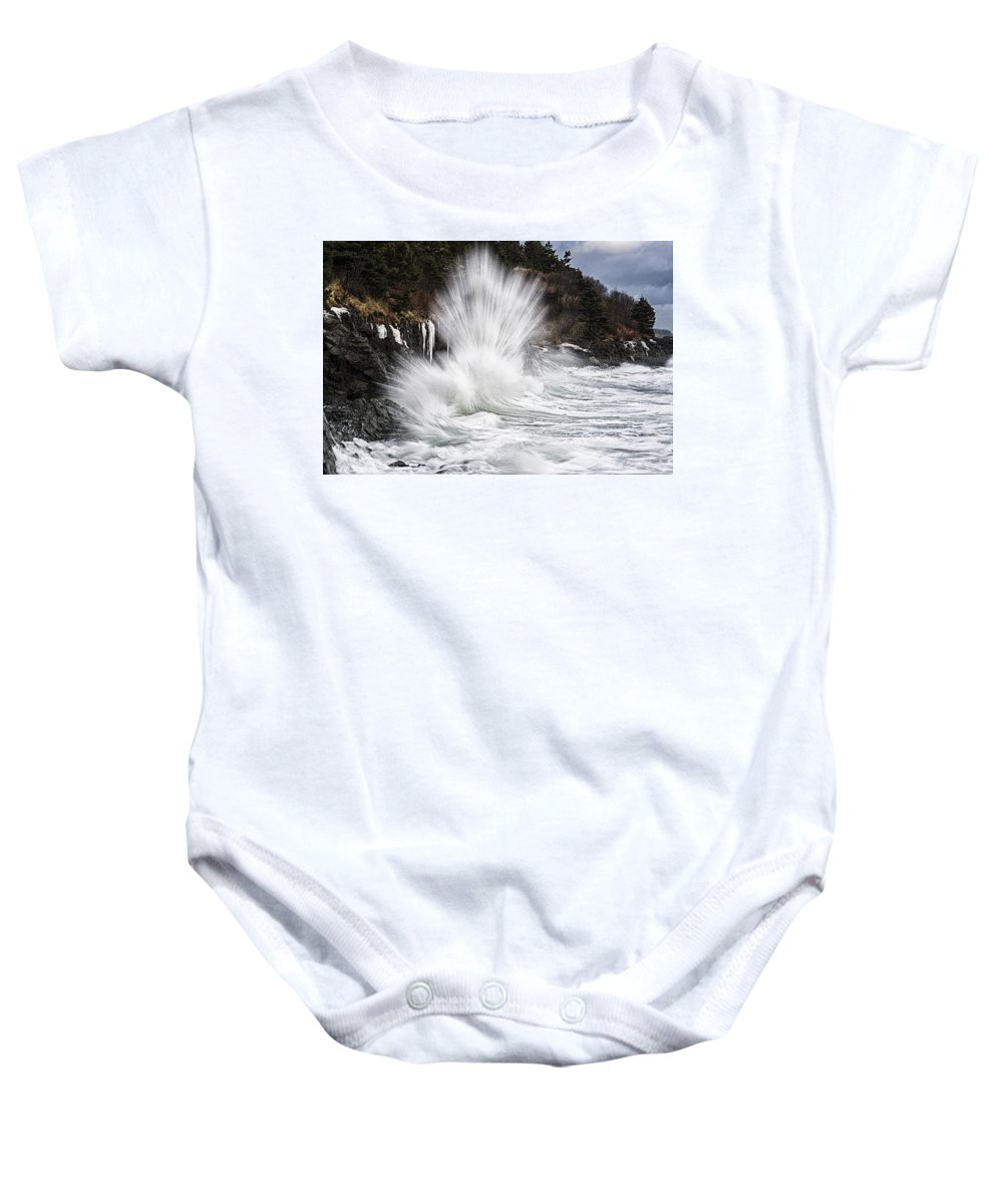 Straight Up Awesome Baby Onesie featuring the photograph Straight Up Awesome by Marty Saccone