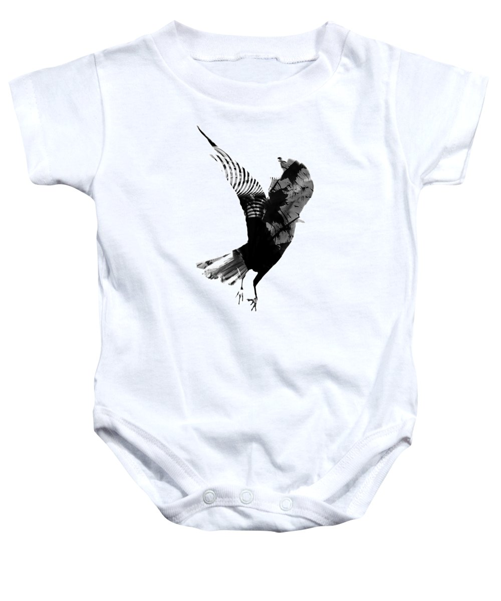 Crow Baby Onesie featuring the photograph Street Crow by The Artist Project
