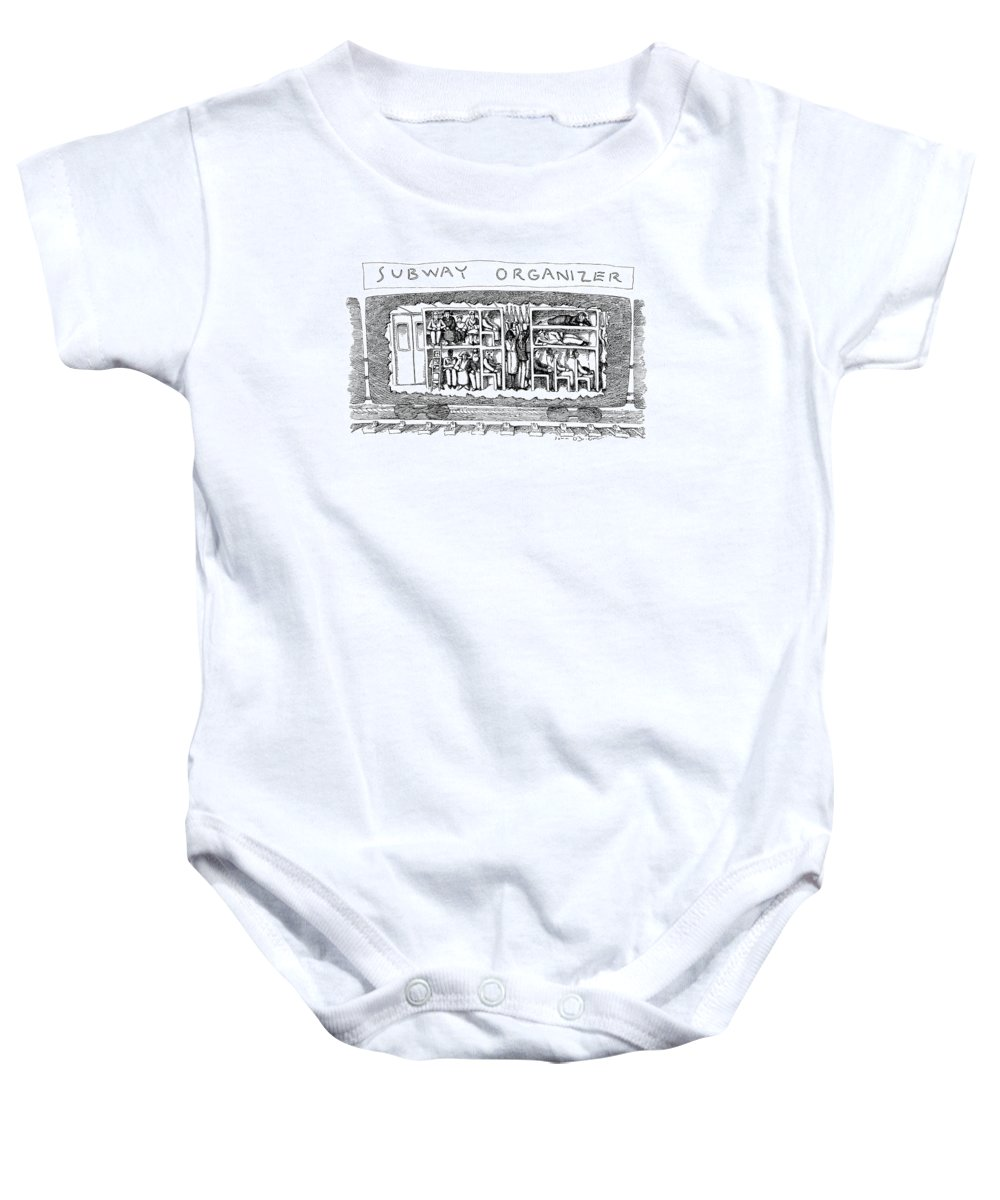 Subways Baby Onesie featuring the drawing Subway Organizer by John O'Brien