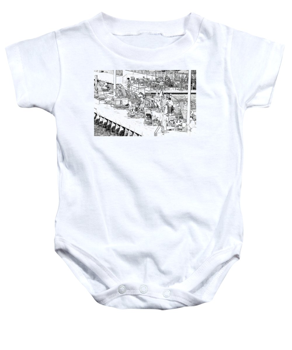 Tourist Baby Onesie featuring the photograph Summer Vacation by Les Palenik