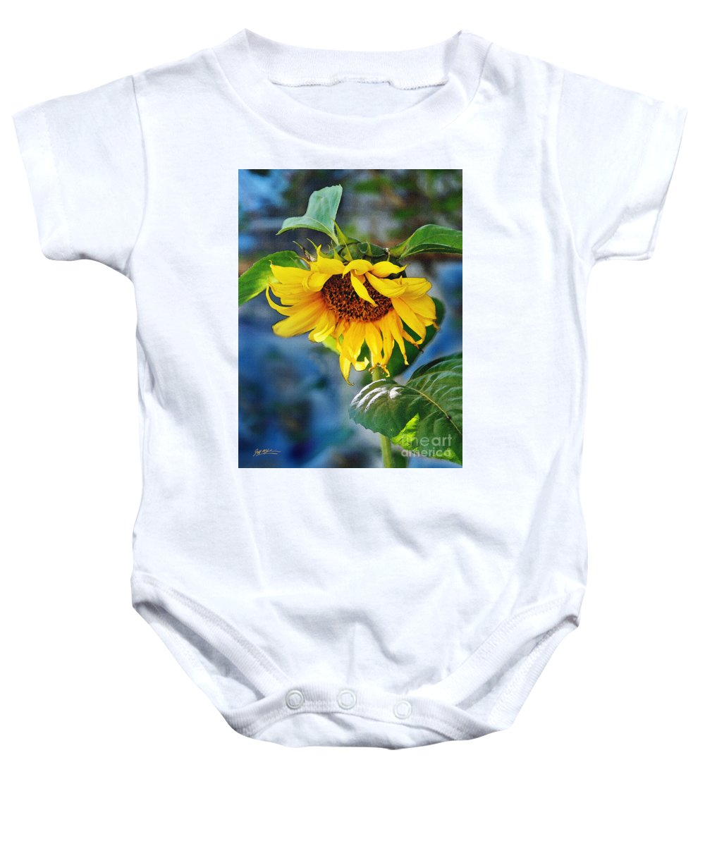 Roses Baby Onesie featuring the Sunflower Magic I by Jeff McJunkin