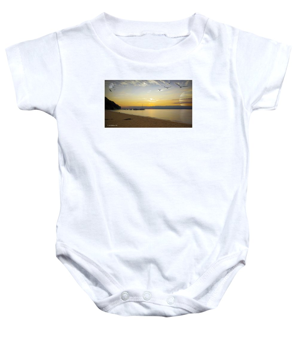 2d Baby Onesie featuring the photograph Sunset Fantasy by Brian Wallace