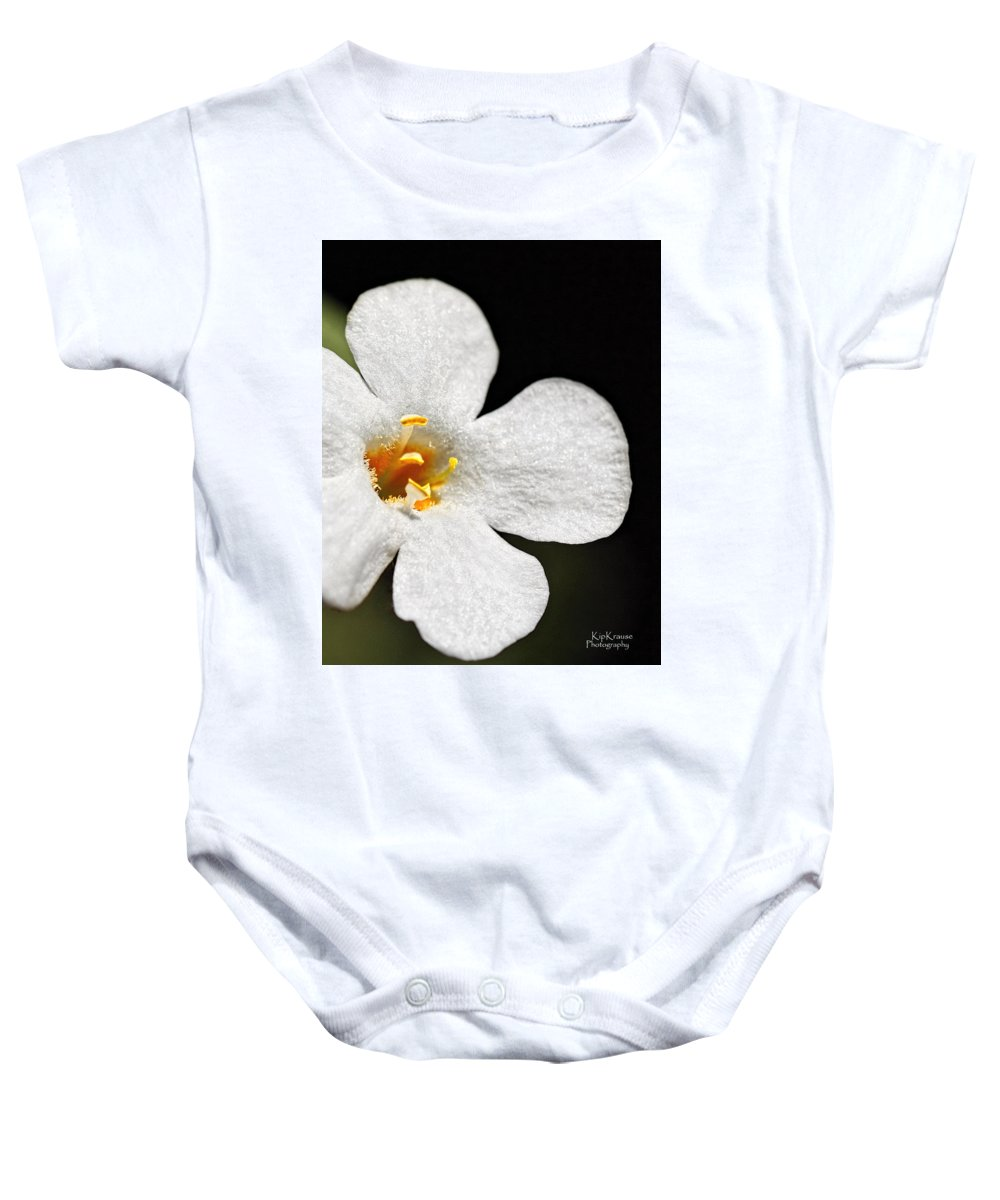 Flower Baby Onesie featuring the photograph Sunshine Smile by Kip Krause