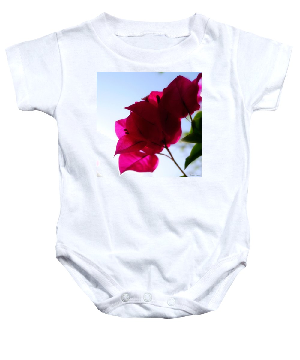 Flower Baby Onesie featuring the photograph Super Red Flower by Joseph Hedaya