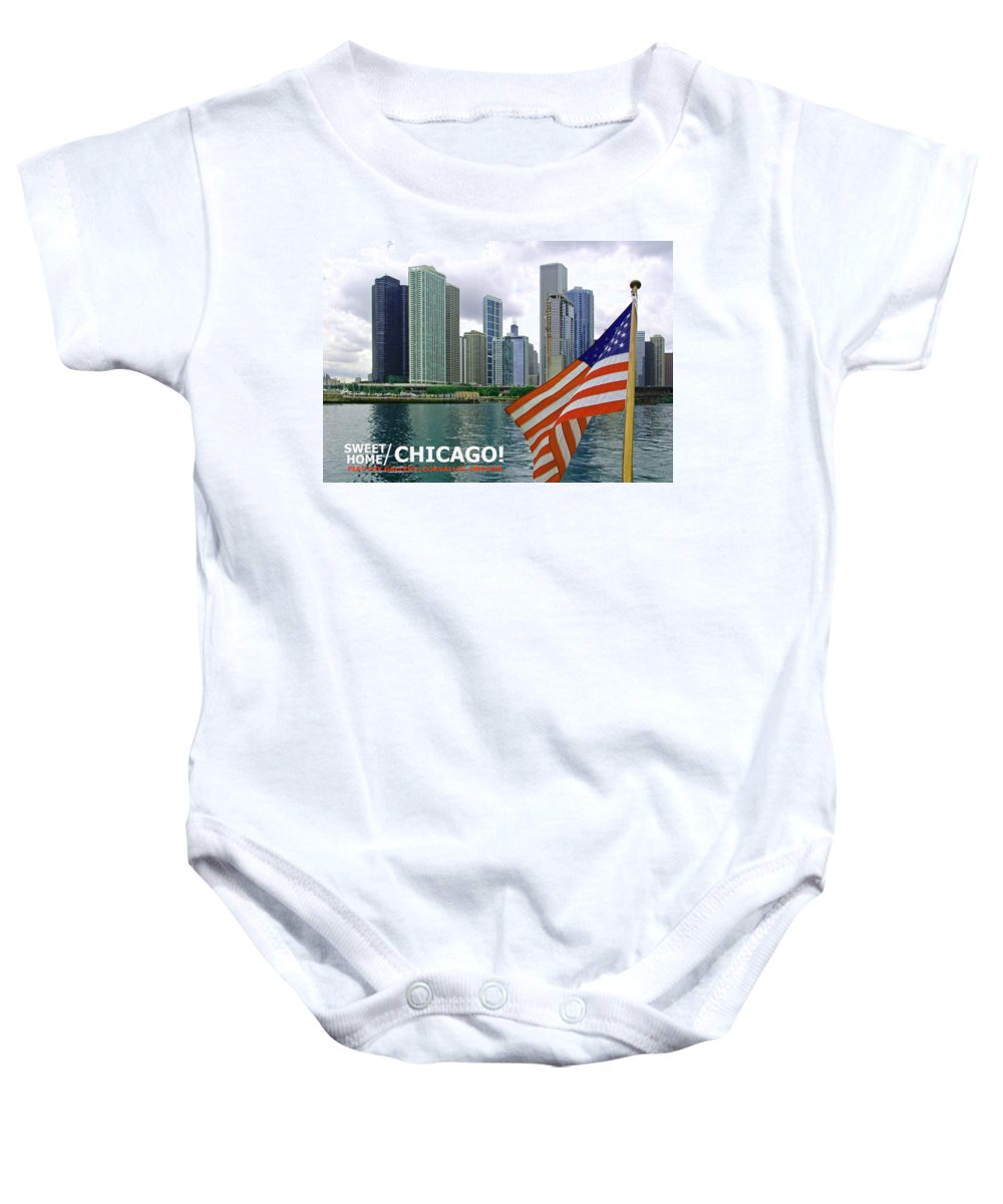 Chicago Baby Onesie featuring the photograph Sweet Home Chicago II by Michael Moore