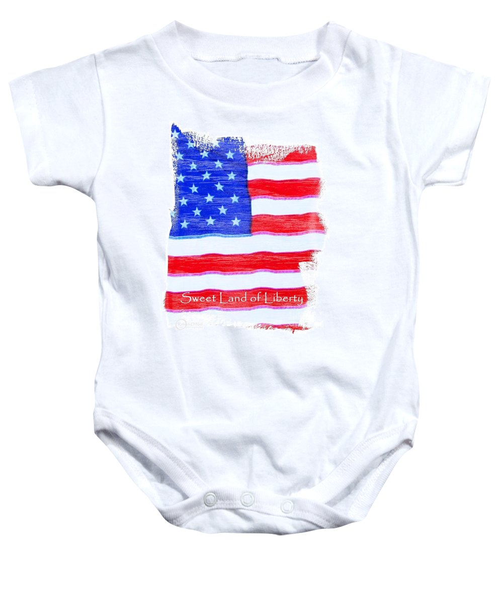 Usa Baby Onesie featuring the photograph Sweet Land Of Liberty by Robert ONeil