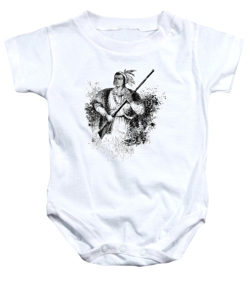 History Baby Onesie featuring the photograph Tecumseh, Shawnee Indian Leader by British Library