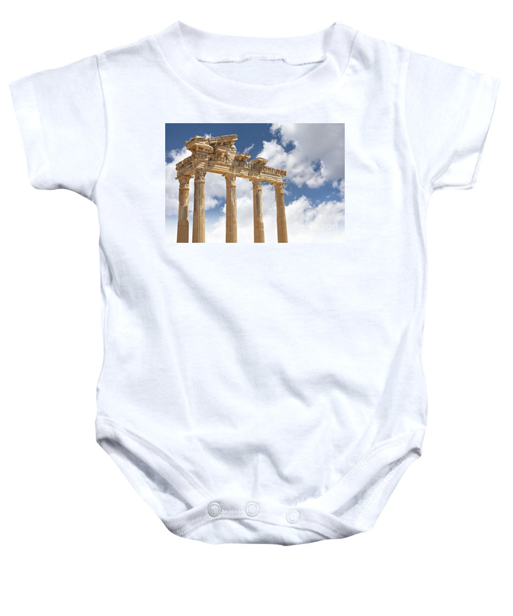 Turkey Baby Onesie featuring the photograph Temple Of Apollo by Sophie McAulay