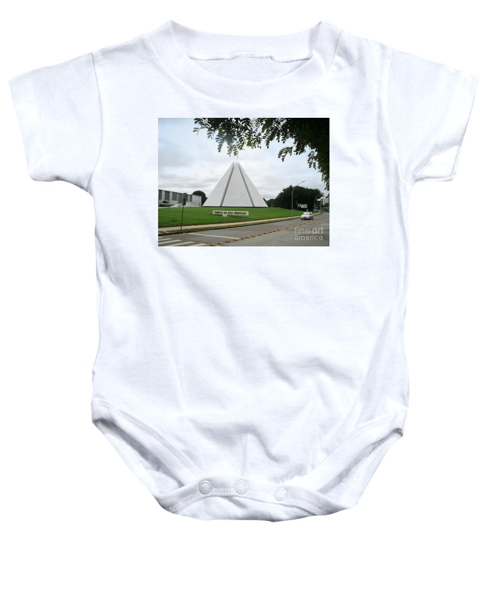 Brazil Baby Onesie featuring the digital art Temple Of Good Will by Carol Ailles