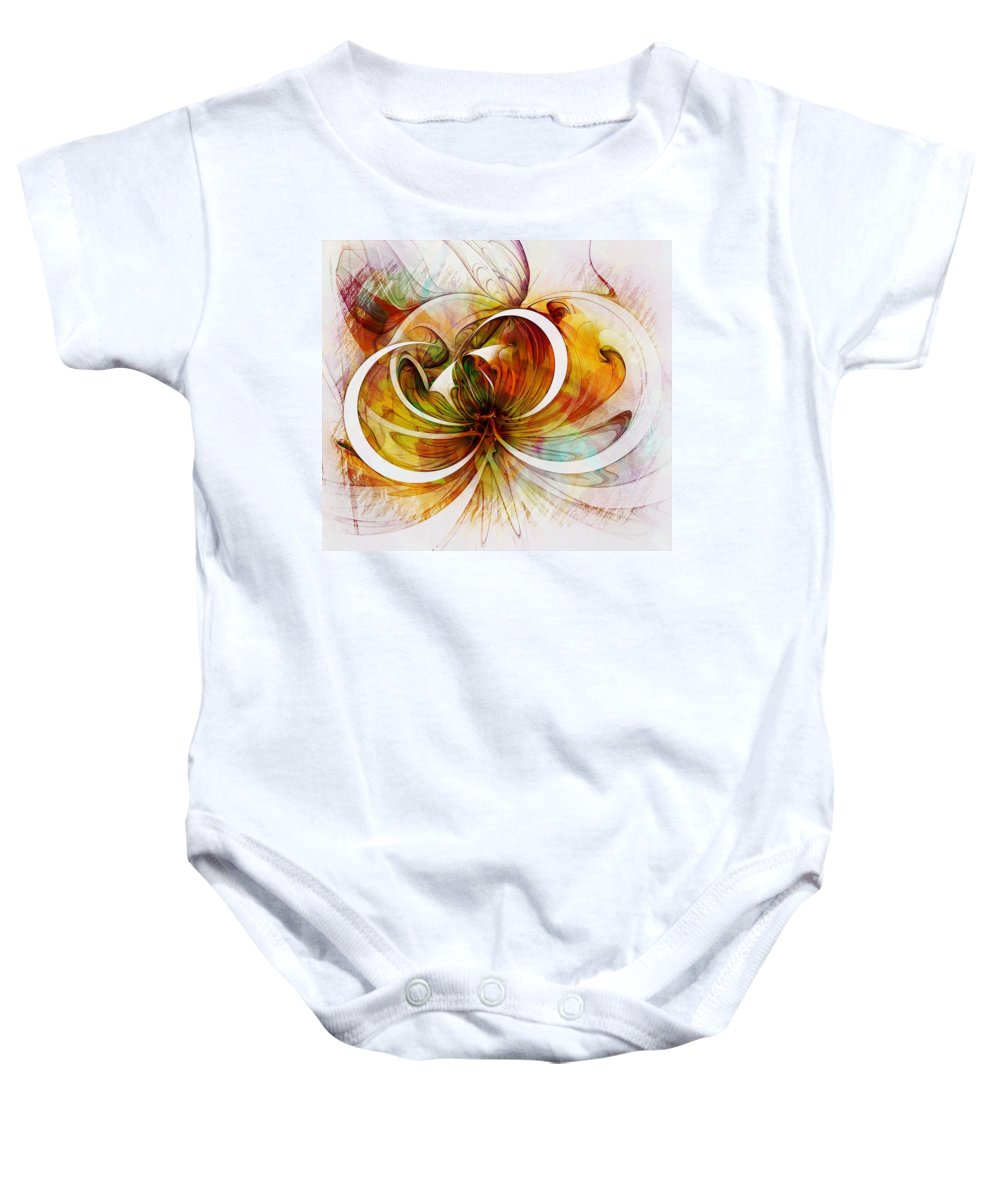 Digital Art Baby Onesie featuring the digital art Tendrils 14 by Amanda Moore