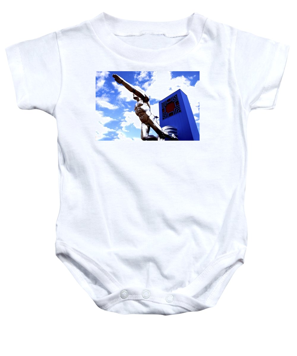 Posed Baby Onesie featuring the photograph Tenor 4 by Charlie Brock