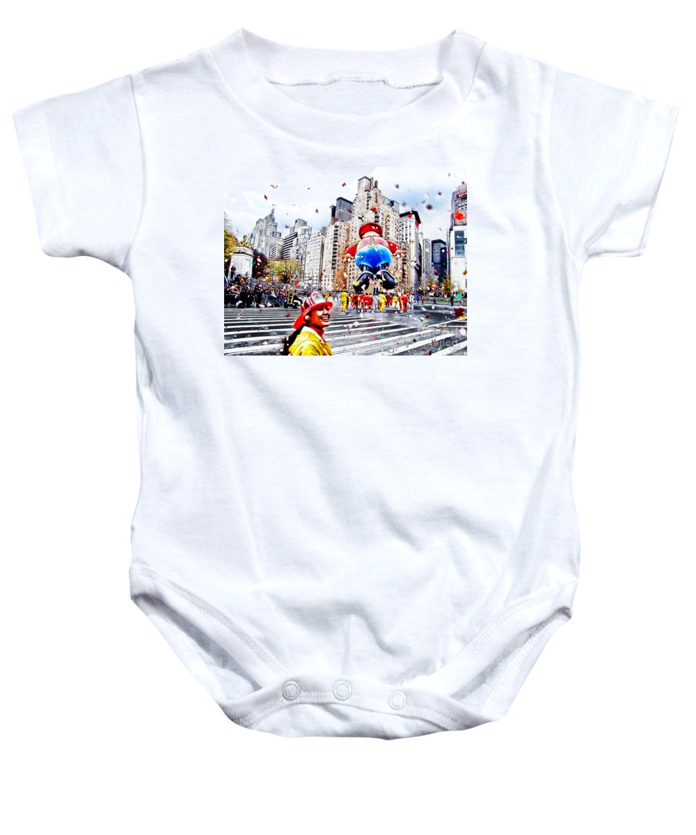 People Baby Onesie featuring the photograph Thanksgiving Parade by Nishanth Gopinathan