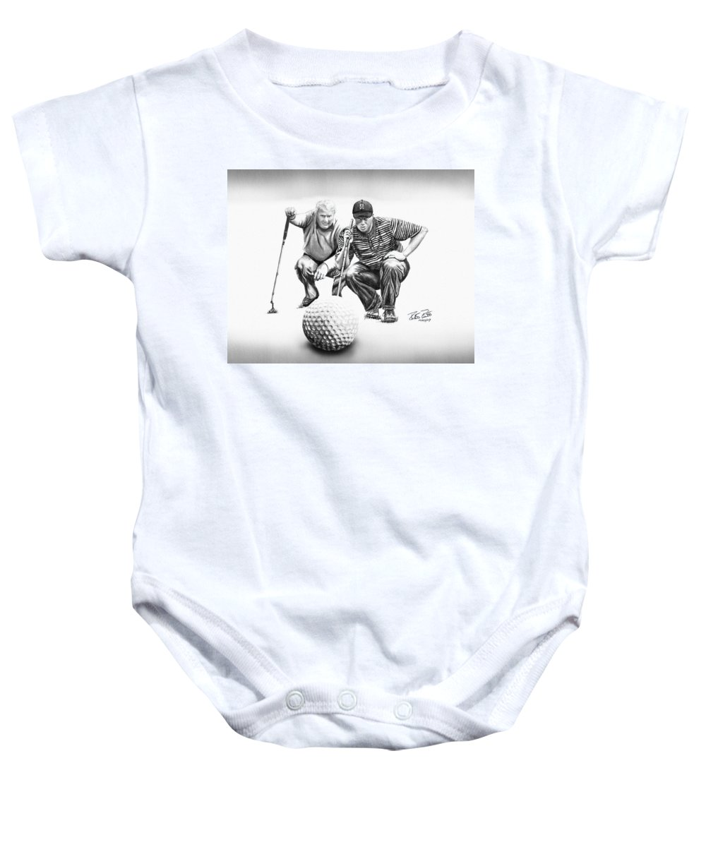 The Advisor Baby Onesie featuring the drawing The Advisor Le by Peter Piatt