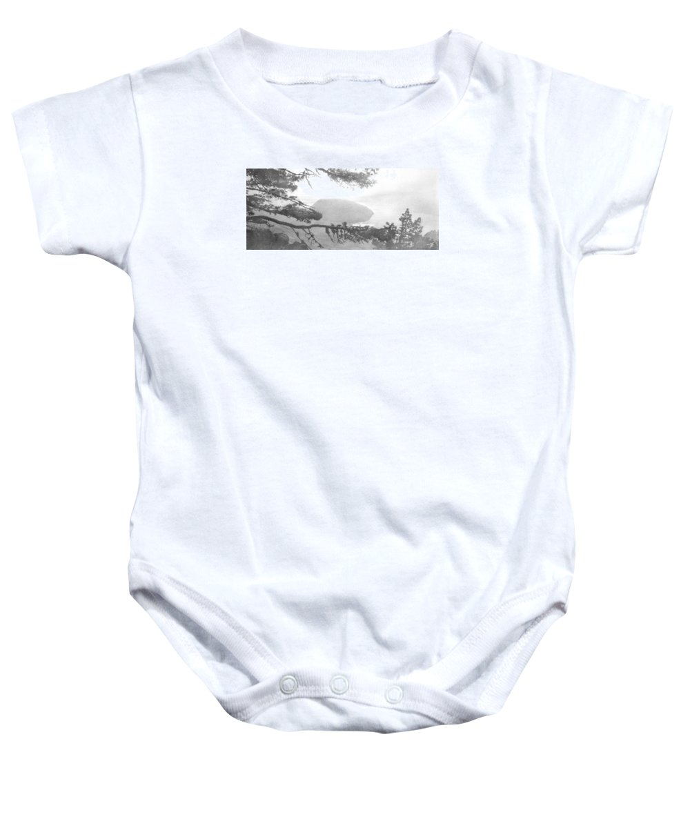 Mountain Baby Onesie featuring the drawing The Ayu-dag by Denis Chernov
