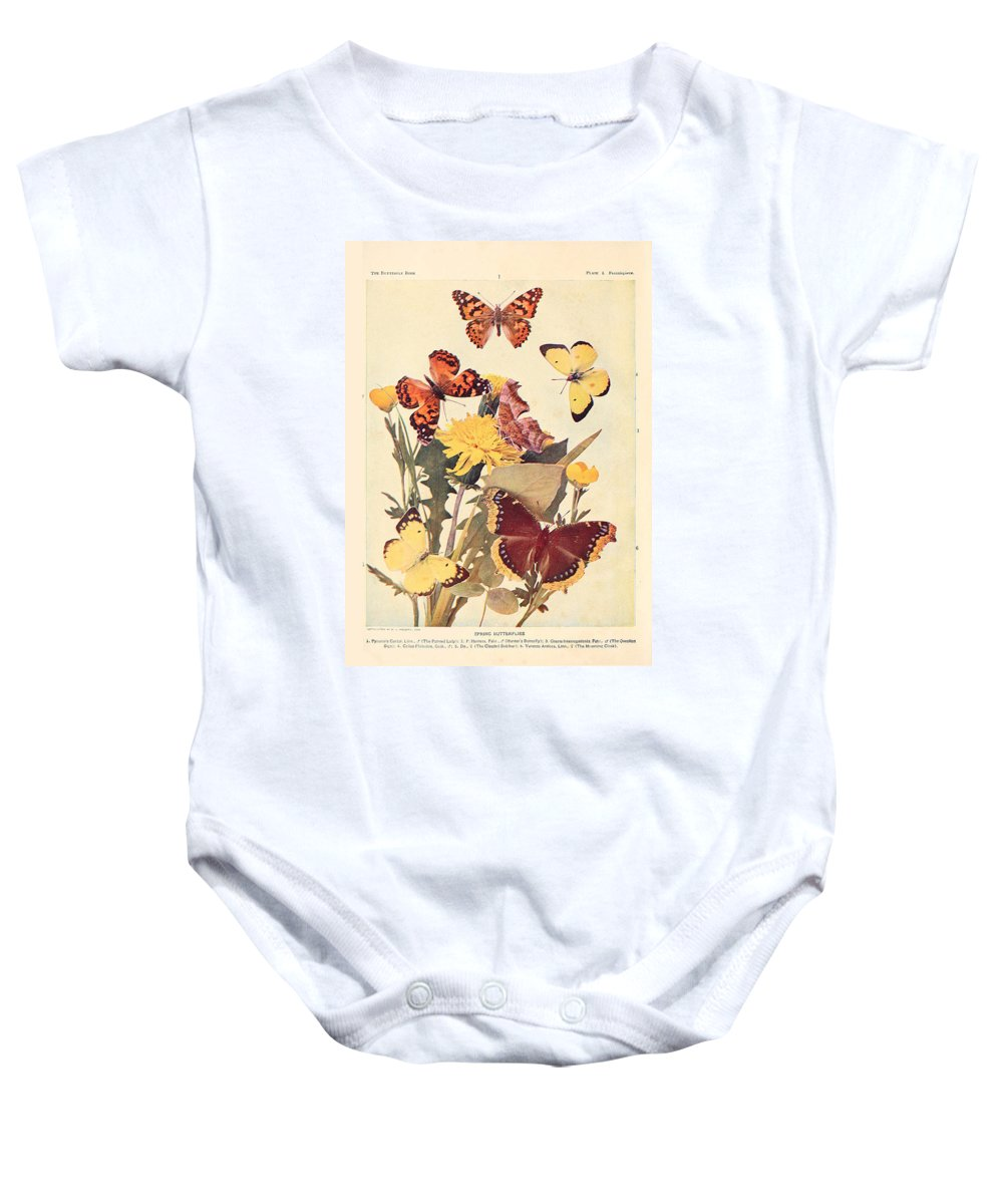 Butterfly Baby Onesie featuring the painting The Butterfly Book by Philip Ralley