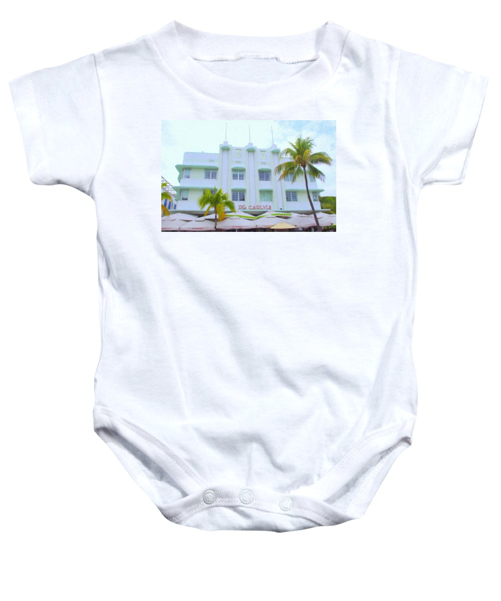 Art Deco Baby Onesie featuring the photograph The Carlyle by Tom Reynen