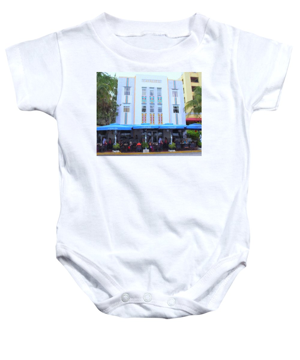 Art Deco Baby Onesie featuring the photograph The Cavalier by Tom Reynen