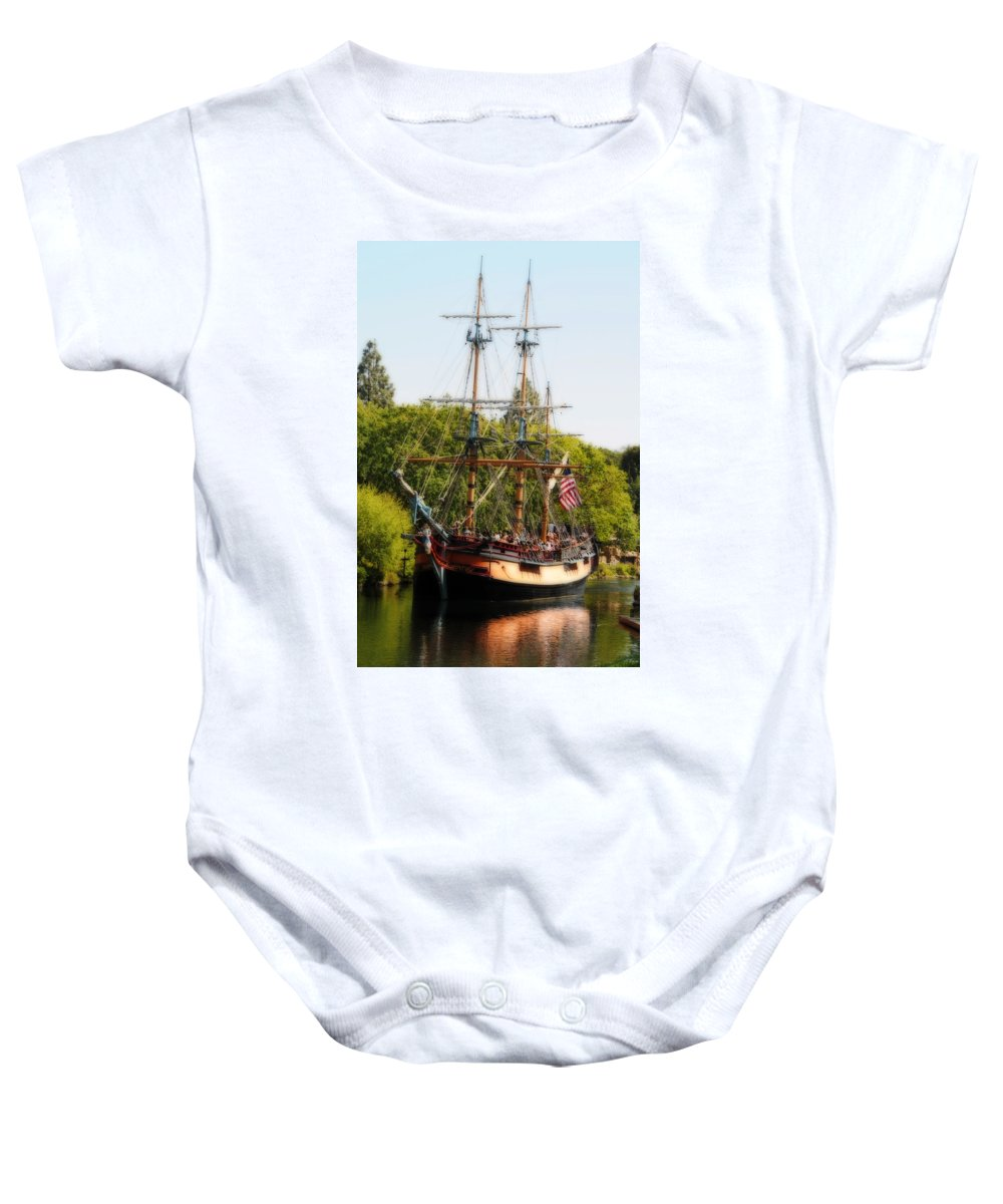 Ship Baby Onesie featuring the photograph The Columbia by Lynn Bauer