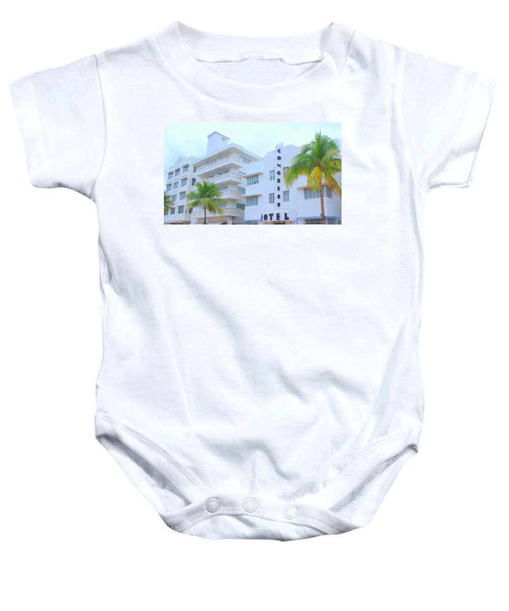 Art Deco Baby Onesie featuring the photograph The Congress by Tom Reynen