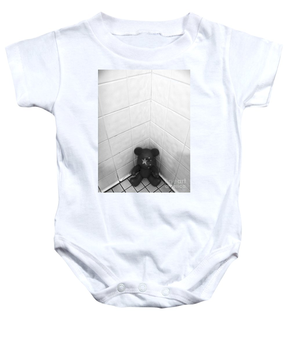 Abstract Baby Onesie featuring the photograph The Corner by Fei A