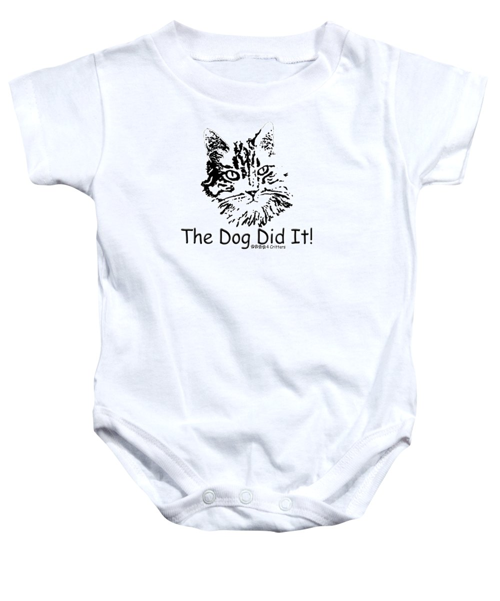 The Dog Did It Baby Onesie featuring the photograph The Dog Did It by Robyn Stacey