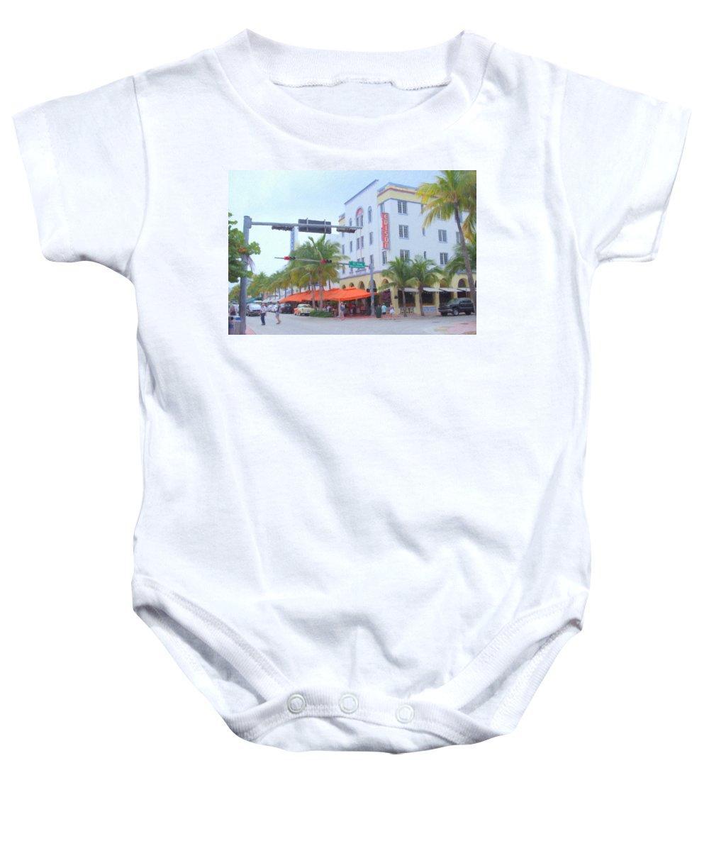 Art Deco Baby Onesie featuring the photograph The Edison by Tom Reynen