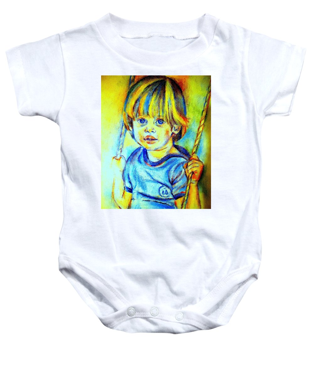 Child Baby Onesie featuring the drawing The Hammock by Helena Wierzbicki