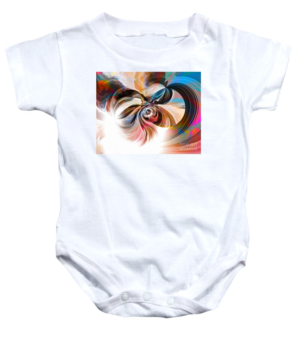Hotel Art Baby Onesie featuring the digital art The Healing by Margie Chapman