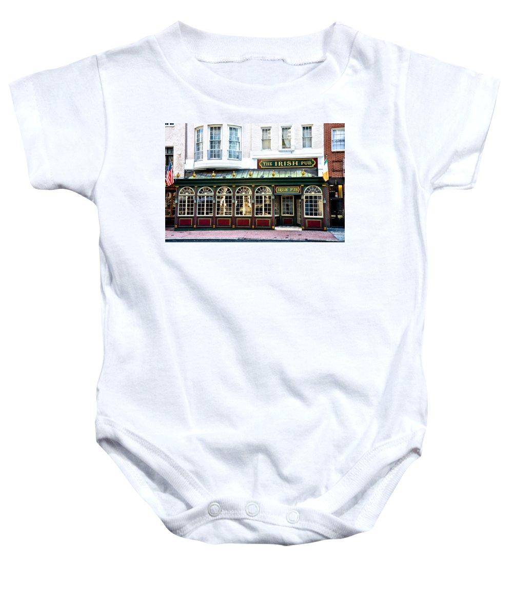 Irish Baby Onesie featuring the photograph The Irish Pub - Philadelphia by Bill Cannon
