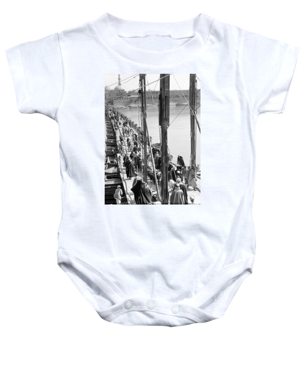1932 Baby Onesie featuring the photograph The Katah Bridge by Underwood Archives