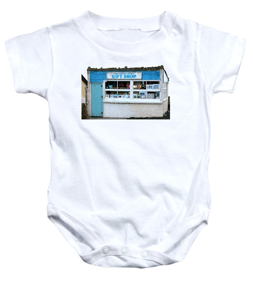 Lizard Point Baby Onesie featuring the photograph The Lizard Point Gift Shop by Terri Waters