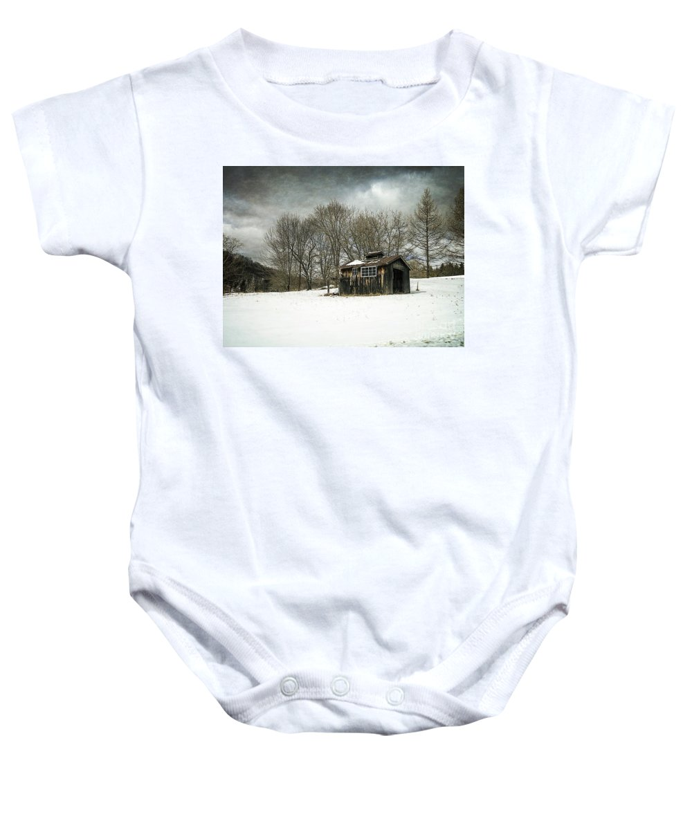 Collection Baby Onesie featuring the photograph The Old Sugar Shack by Edward Fielding